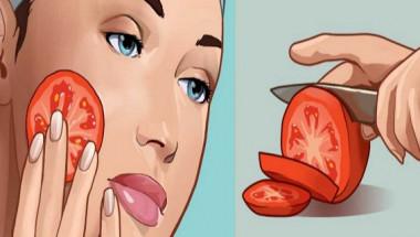 Сложете прясно нарязан домат на лицето си за 3 секунди и ето какъв невероятен ефект ви очаква