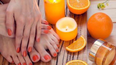 Заздравете ноктите с портокалов сок