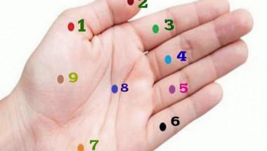 Има точки на дланта, стимулирането на които подобрява здравето