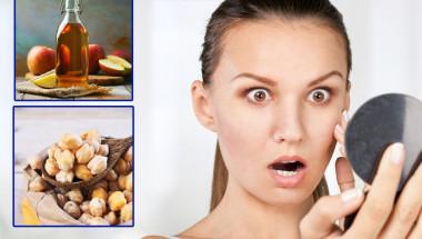 Нахут и ябълков оцет при старчески петна по кожата