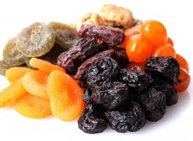 В сушените плодове се съдържа много калий